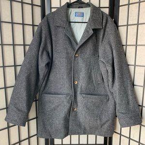 Pendleton VTG 100% wool gray topcoat 4 pockets